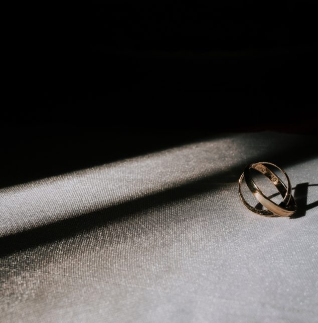 Two rings intertwined for best couples relationship session meet with Naperville couple therapist.